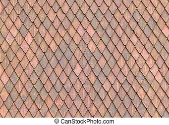 Roof Tile texture material of european medieval building