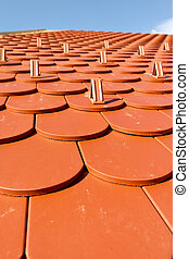 Roof tiles at nice sun day