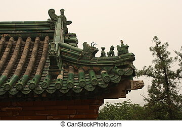 Roof tiles ornate in Summer Palace
