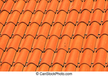 ... Roof Tiles   Pattern Detail Of Orange Ceramic Roof Tiles