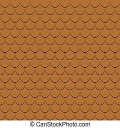 Roof tiles seamless pattern.