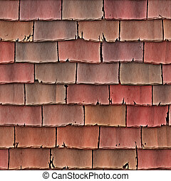 ... Roof Tiles   A Large Image Of Red Roof Tiles Or Shingles As... ...