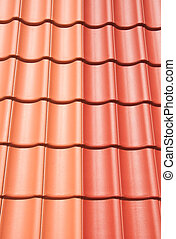 Roof tiling red and orange