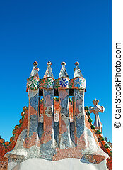 Roof top of Casa Batllo.