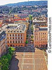 Roof top view of city center of Budapest