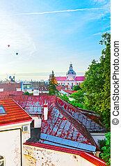 Roof top view of Jesuit Church of St Casimir Vilnius