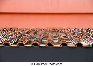 Roof Top with Red Tiles