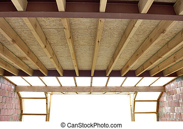 Roof trusses at a house