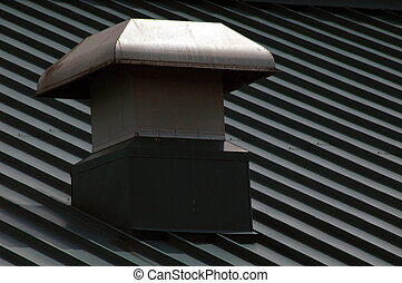 roof vent - vent on the metal roof of a hockey arena