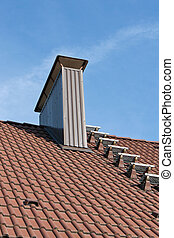 Roof with chimney