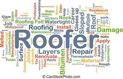 Roofer background concept