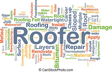 roofer, fondo, concetto