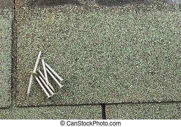 Shiny Roofing Nails Close Up Shot Of Dozens Of Shiny 2
