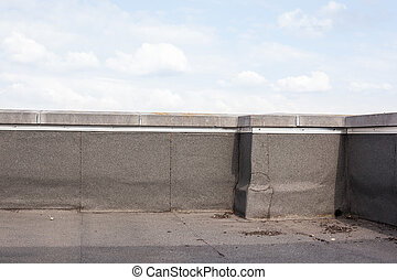 flat roof of a building