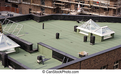 Roofing waterproofing in new building