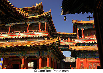 Gyeongbok-kung Temple, Seoul, Korea - Roofs, carvings and...