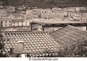 roofs in an italian small town