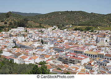 Roofs of a white town