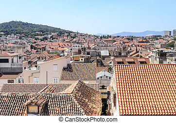 Roofs of houses in the old town.