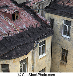 Roofs of old houses in the center