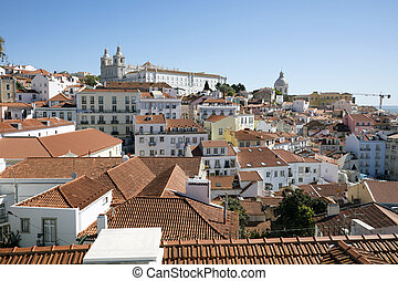 Roofs of old Lisbon