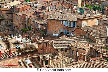 Roofs of old Siena