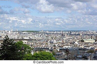 Roofs of Paris, Montmartre (France)