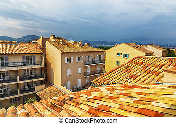 roofs of San Tropez - view at roofs in San Tropez, Cote...