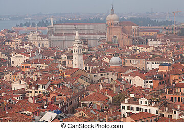 Roofs of venetian houses