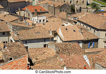 Roofs of Viviers - Viviers is Located in the Department de l...