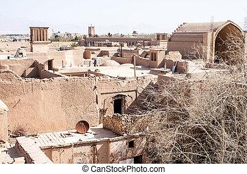 Roofs of Yazd, Iran.