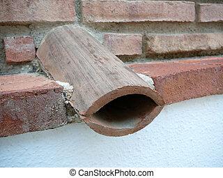 rooftile, 排水