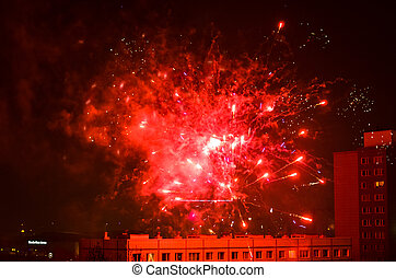 new year fireworks in berlin