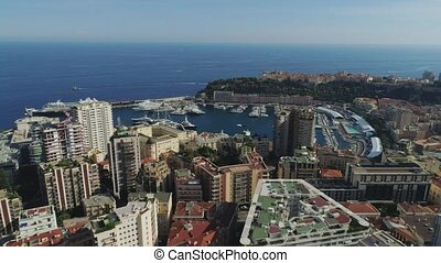 Rooftops and block of flats in Monaco Monte Carlo city...