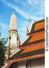 Rooftops at Wat Arun Temple