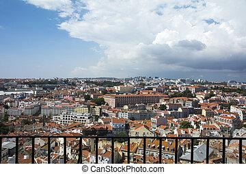 Rooftops of Lisbon - View of Lisbon from the Mirador da ...