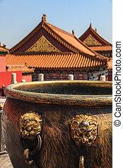 Rooftops of the forbidden city Beijing