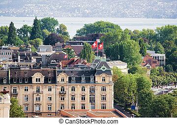 Rooftops on Zurich city center