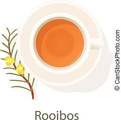 Rooibos tea icon, cartoon style - Rooibos tea icon. Cartoon ...