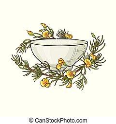 rooibos tea illustration - rooibos tea in tea bowl ...