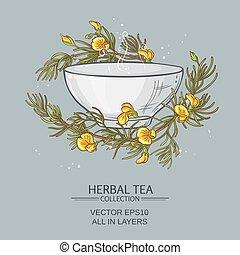 rooibos tea illustration - rooibos tea vector illustration ...