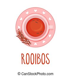 Rooibos Tea Vector Illustration. Colorful Herbal Drink ...