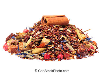 rooibos tea with cinnamon and fruits