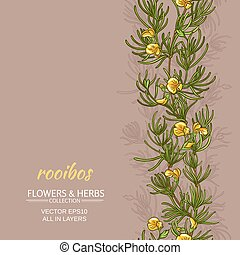 rooibos vector background - rooibos plant vector pattern on ...