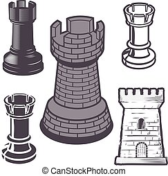Rook Chess Pieces - Collection of rook chess pieces