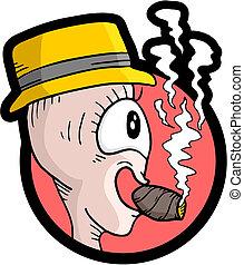 Sigaar rokende man