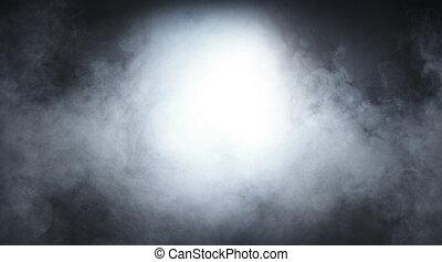 rook, textuur, op, leeg, zwarte achtergrond