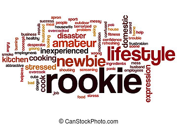 Rookie word cloud concept