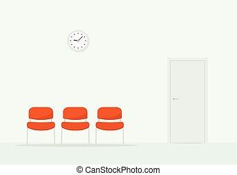 room., απλό , αναμονή , εικόνα