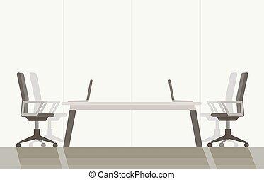 room., カラフルである, ベクトル, 現代, 平ら, illustration., 会議, 背景